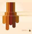 Retro brown color abstract background vector image vector image