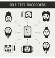 Self test tricorders vector image