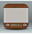 Retro radio app icon vector image vector image