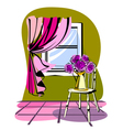 Stylish of morning room vector image
