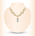 golden feminine necklace vector image vector image