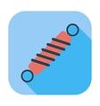 Automobile shock absorber single icon vector image