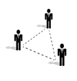 connection people icon vector image