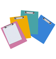 blank clipboards vector image