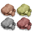 Different color of natural rocks vector image