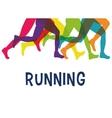 legs of side running sport concept vector image