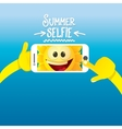 Summer selfie concept background vector image
