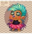 Cute hedgehog girl rocker cartoon series vector image