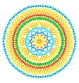 Ethnic African style round pattern vector image