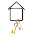 House for sale turnkey vector image
