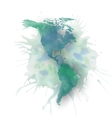 North and south America map element abstract hand vector image