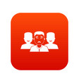 people group icon digital red vector image