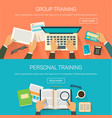 personal or group training for workers conference vector image