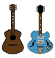 pixel guitar set1 vector image