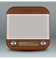 Retro radio app icon vector image