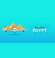 travel to egypt airplane with attractions travel vector image
