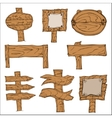 Wooden Signpos vector image