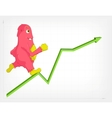 Funny Monster Stastistic Up vector image