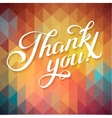 THANK YOU hand lettering - custom handmade vector image