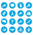 charity icon blue vector image