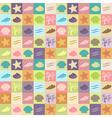 vintage seashell wallpaper vector image vector image