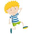 Little boy looking happy vector image