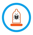 Bug Protection Rounded Icon vector image