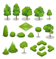 Isometric trees elements for landscape vector image
