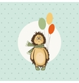 hedgehog birthday greeting vector image
