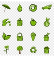 Eco set icons vector image