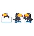 Toucan Mascot happy vector image