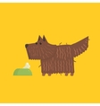 Scottish Terrier With Food Bowl Image vector image