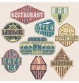set of grunge vintage labels with places of food vector image