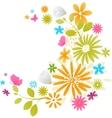 Beautiful fresh flowers vector image