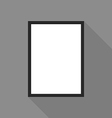 Blank picture frame on grey wall vector image