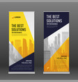 corporate roll up banner design template vector image