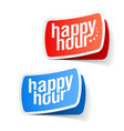 Happy hour labels vector image