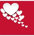 Hearts with shadow vector image