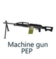 layered of machine gun pep vector image