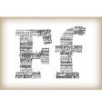 letter f filled by business words vector image