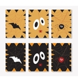 Set of Halloween ards vector image