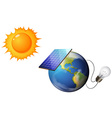 Solar concept vector image