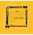 Square frame with quote on yellow background vector image