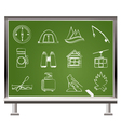 travel and tourism objects vector image