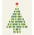 Social media people Christmas tree vector image vector image