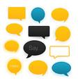 comic speech bubbles icon set vector image vector image
