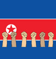 north korea protest fight against a war vector image