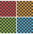 seamless checkered patterns vector image vector image