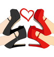 I love these shoes vector image
