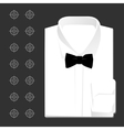 classic white shirt vector image